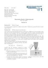 Theoretische Physik 2: Elektrodynamik Tutorial 10 - Institut für ...