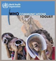 WHO Communications Toolkit - World Health Organization