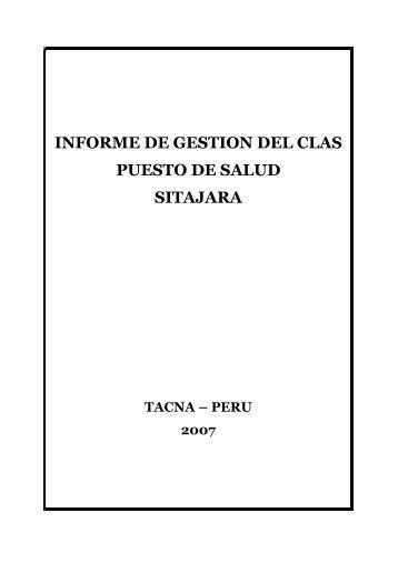 informe de gestion - Direccion Regional de Salud Tacna