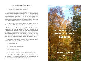 Volume LXII Number 4 - Church of God (7th Day)