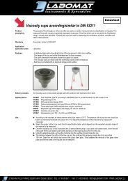 Viscosity cups according/similar to DIN 53211 - Labomat