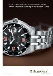 Neuer Markenauftritt für eine Schweizer Luxusuhr Titoni ... - Branders