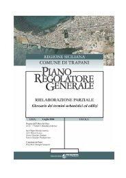 glossario PRG Trapani 2004 - Facoltà di Architettura Luigi Vanvitelli
