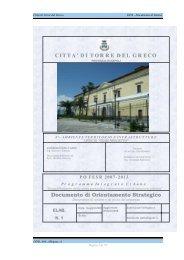 Documento di Sintesi - Programmazione Unitaria Regione Campania