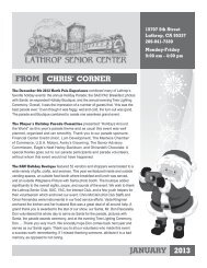 FrOM ChriS' COrner jAnuAry 2013 - City of Lathrop