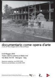 Manifesto - Accademia di Belle Arti Bologna