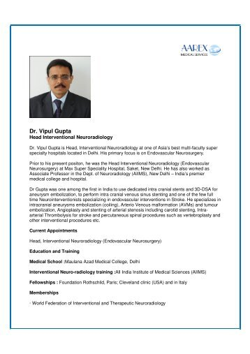 Dr. Vipul Gupta - Surgery in India