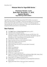 Release Note for Vigor2920 Series Firmware ... - FTP - Draytek