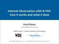 Internet Observation with N-TAP: how it works and what it does - Caida