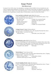 Images Wanted - Transferware Collectors Club