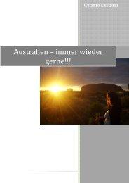 Australien – immer wieder gerne!!! - Molekulare Biologie