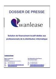 Dossier de presse Wanlease - 3d Communication