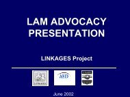 What is LAM? - Linkages Project