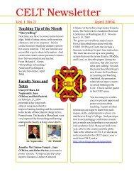 Newsletter, April 2004, Vol 1. Nr. 3 - King's College