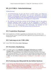 89. § 14 VOB/A - Sicherheitsleistung - Oeffentliche Auftraege