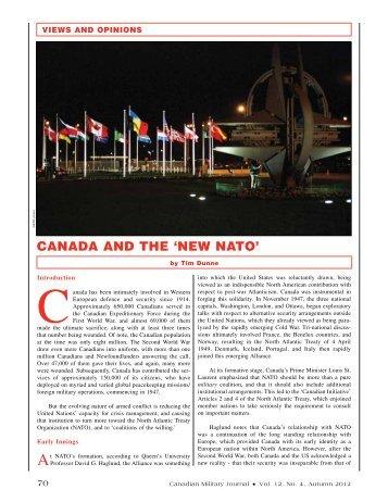 CANADA AND ThE 'NEW NATO'
