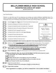 bellflower middle /high school - Bellflower Unified School District