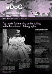eDoG newsletter 3 - School of Geography - Queen Mary University ...