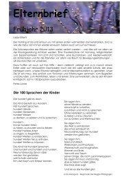 Elternbrief Frühjahr 2013 - Familienzentrum St. Martin Benninghausen