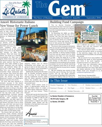 Gem The - La Quinta Chamber of Commerce