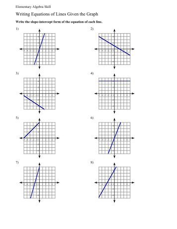 Printables Equations Of Lines Worksheet how to write linear equation from graph graphing equations and inequalities linear