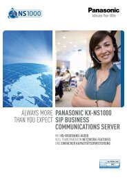 AlwAys more thAn you expect Panasonic KX-ns1000 siP BUsinEss ...