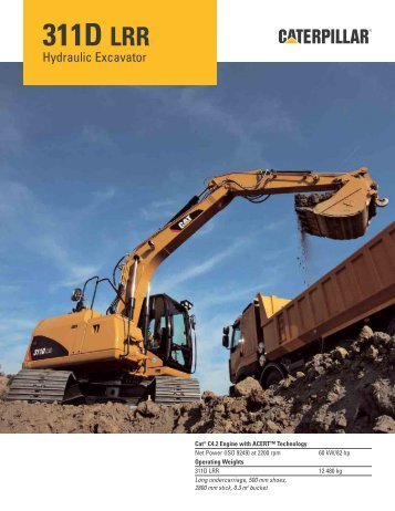 311D LRR Hydraulic Excavator Specifications - Teknoxgroup