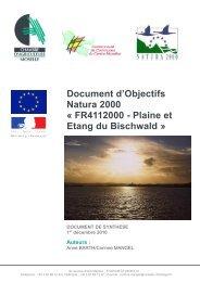 Document d'Objectifs Natura 2000 - DREAL Lorraine
