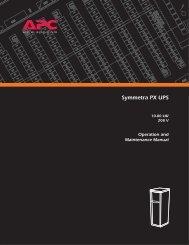 APC Symmetra PX User Manual - Gruber Power