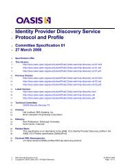 Identity Provider Discovery Service Protocol and Profile specification