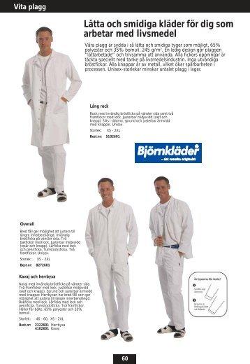 Lätta och smidiga kläder för dig som arbetar med livsmedel