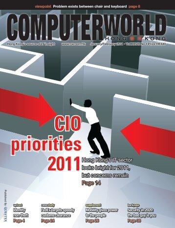 CIO priorities 2011 - enterpriseinnovation.net