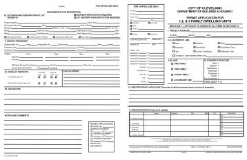 Residential Building Permit Application - City of Cleveland