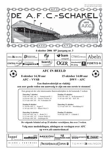 4 oktober 2006, 85e jaargang nummer 3 - AFC, Amsterdam