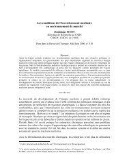 (Nucléaire marché Revue de l'énergie) - Centre International de ...