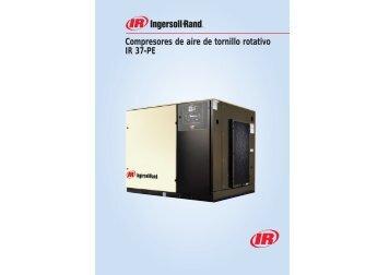 Compresores de aire de tornillo rotativo IR 37-PE - Pegamo