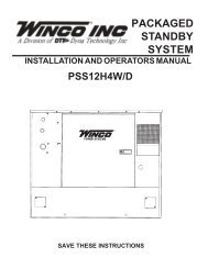 PACKAGED STANDBY SYSTEM - Winco