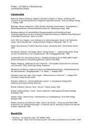 Literaturliste zur Unterrichtsreihe