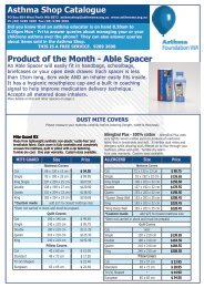 Product of the Month - Able Spacer Asthma Shop Catalogue