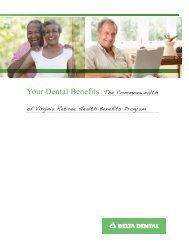 COVA Retirees booklet - Delta Dental of Virginia