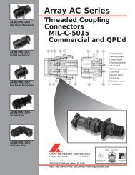 ARRAY AC SERIES MIL C-5015-QX - Array Connector Corporation