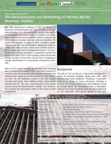 The Deconstruction and Rebuilding of 740 Rue Bel ... - Reuse Steel