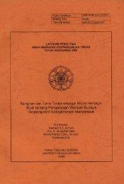 Sangiran dan Tana Toraja sebagai World Heritage: - lib.ugm.ac.id
