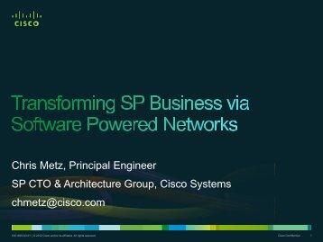 Transforming SP Business via Software Powered ... - IEEE CQR