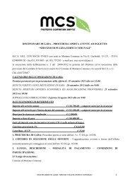 BANDO DI GARA – PROCEDURA APERTA PER L ... - MCS-Servizi