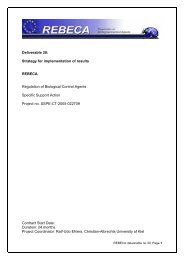 Deliverable 30: Strategy for implementation of results REBECA ...