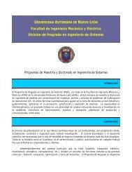 Facultad de Ingeniería Mecánica y Eléctrica División de ... - pisis