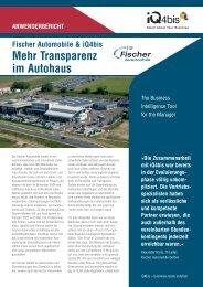 Mehr Transparenz im Autohaus - Schindler IT-Solutions GmbH