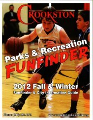 Parks & Recreation activities - City of Crookston