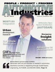engineering, AUTOSAR - Automotive Industries